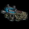 Souvenir P90 | Facility Negative <br>(Well-Worn)