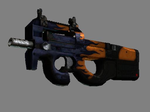 Скин StatTrak™ P90 | Воин дорог (Закалённое в боях)