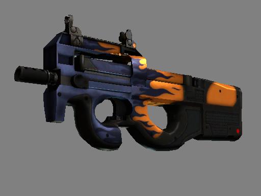 Скин StatTrak™ P90 | Воин дорог (Поношенное)