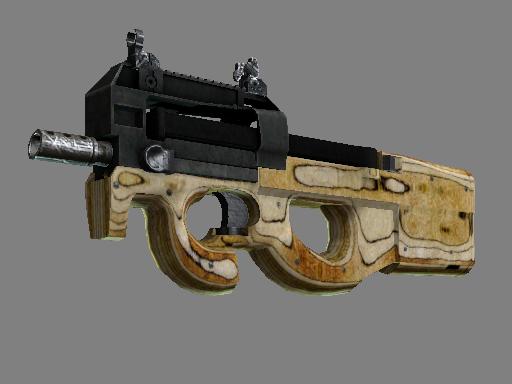 Скин StatTrak™ P90 | Резной приклад (Закаленное в боях)