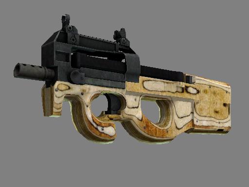 Скин P90 | Резной приклад (Поношенное)