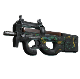 StatTrak™ P90 | Emerald Dragon (Battle-Scarred)