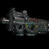 StatTrak™ P90 | Emerald Dragon <br>(Battle-Scarred)