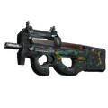 StatTrak™ P90 | Emerald Dragon <br>(Battle-Scarred)