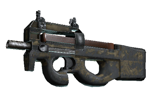 Скин P90 | Песчаное напыление (Закаленное в боях)