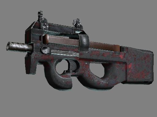 Скин Сувенирный P90 | Радиоактивные осадки (Закаленное в боях)