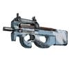 Souvenir P90 | Glacier Mesh <br>(Well-Worn)