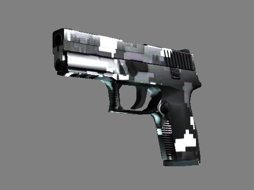 Скин P250 | Пиксельный камуфляж «Металлический» (Прямо с завода)