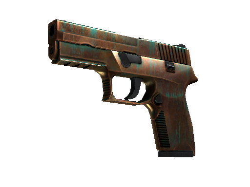 StatTrak™ P250 | Verdigris (Battle-Scarred)