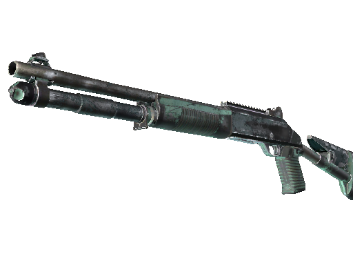 Souvenir XM1014 | Blue Spruce (Battle-Scarred)