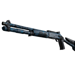 Souvenir XM1014 | VariCamo Blue (Well-Worn)
