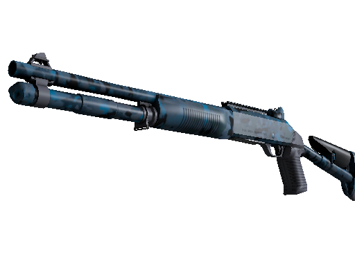 Souvenir XM1014 | VariCamo Blue (Battle-Scarred)