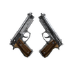 Dual Berettas | Black Limba <br>(Battle-Scarred)