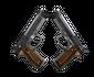StatTrak™ Dual Berettas | Black Limba (Minimal Wear)