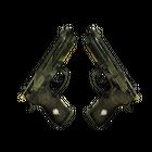 StatTrak™ Dual Berettas | Retribution (Well-Worn)