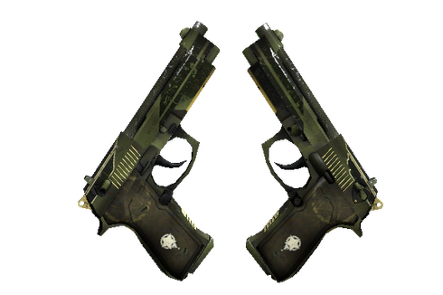 Buy StatTrak™ Dual Berettas | Retribution (Well-Worn)
