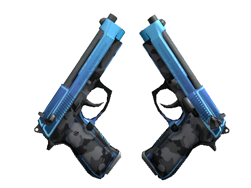 StatTrak™ Dual Berettas | Urban Shock (Battle-Scarred)