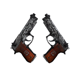 StatTrak™ Dual Berettas | Dualing Dragons (Battle-Scarred)