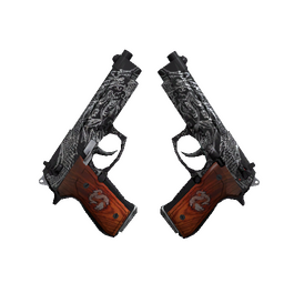 StatTrak™ Dual Berettas | Dualing Dragons (Well-Worn)