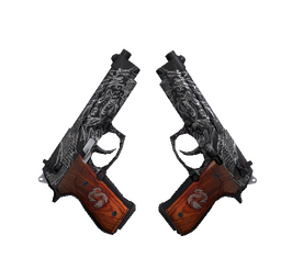 StatTrak™ Dual Berettas | Dualing Dragons (Factory New)