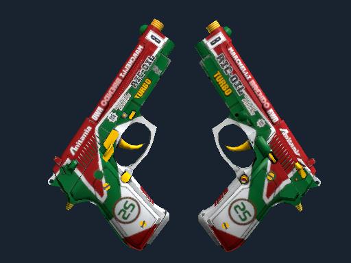 Dual Berettas | Twin Turbo (Field-Tested)