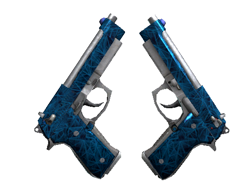 Dual Berettas | Cobalt Quartz Factory New