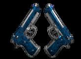 Dual Berettas   Синий кварц, Немного поношенное, 14.02$