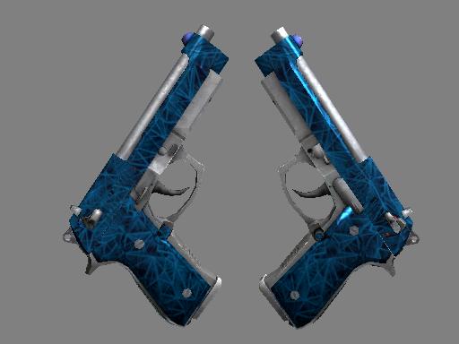 Souvenir Dual Berettas | Cobalt Quartz (Well-Worn)