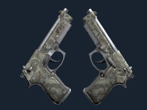 Dual Berettas | Heist (Battle-Scarred)