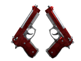 StatTrak™ Dual Berettas | Hemoglobin (Factory New)