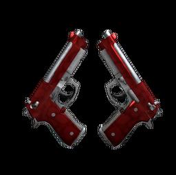StatTrak™ Dual Berettas | Hemoglobin (Minimal Wear)