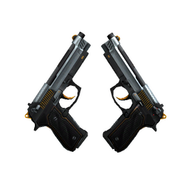 StatTrak™ Dual Berettas | Ventilators (Factory New)