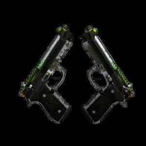 StatTrak™ Dual Berettas | Cobra Strike (Battle-Scarred)