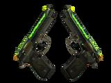 StatTrak™ Dual Berettas | Cobra Strike (Minimal Wear)