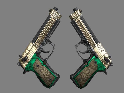 Скин StatTrak™ Dual Berettas | Королевская чета (Немного поношенное)