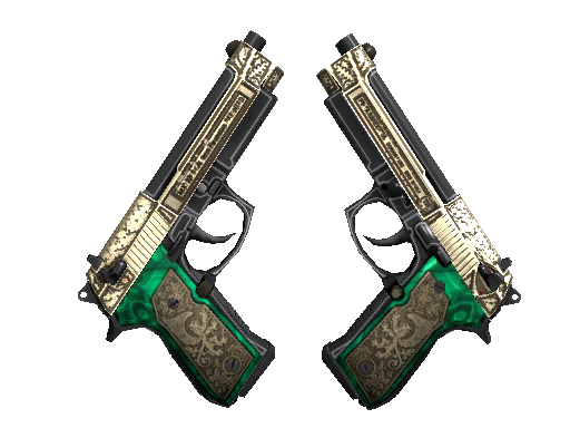 StatTrak™ Dual Berettas | Royal Consorts (Battle-Scarred)