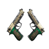 StatTrak™ Dual Berettas | Royal Consorts <br>(Well-Worn)