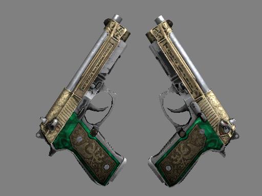 Скин StatTrak™ Dual Berettas | Королевская чета (Закаленное в боях)