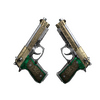 StatTrak™ Dual Berettas | Royal Consorts <br>(Battle-Scarred)