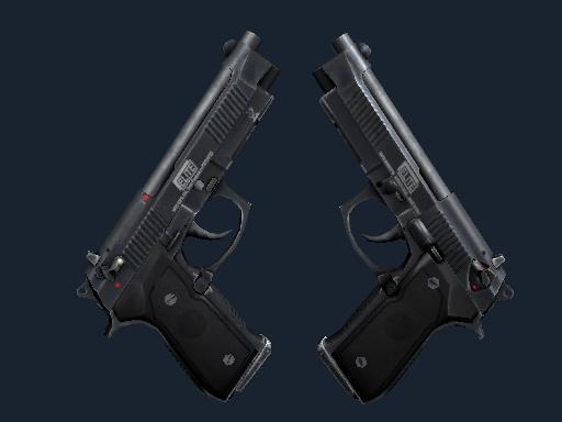 Скин StatTrak™ Dual Berettas | Элита 1.6 (После полевых испытаний)