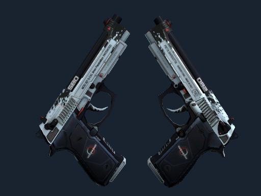 StatTrak™ Dual Berettas | Dezastre (Battle-Scarred)