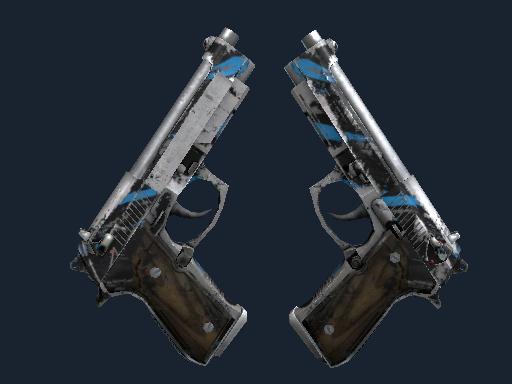 Скин StatTrak™ Dual Berettas | Клочки (Закаленное в боях)