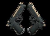 Dual Berettas   Наемник, Немного поношенное, 0.68$
