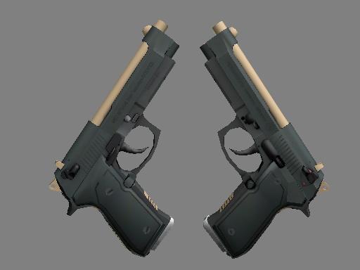 Скин Dual Berettas | Наемник (Немного поношенное)