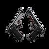 StatTrak™ Dual Berettas | Panther <br>(Battle-Scarred)