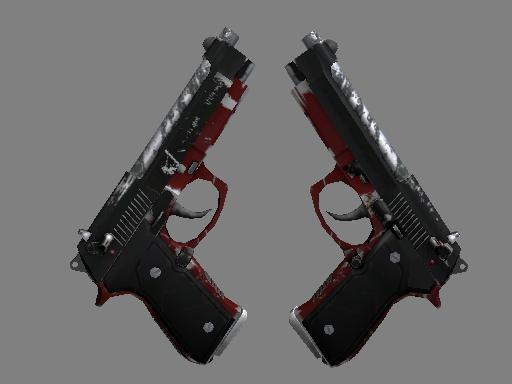 Скин StatTrak™ Dual Berettas | Пантера (Поношенное)