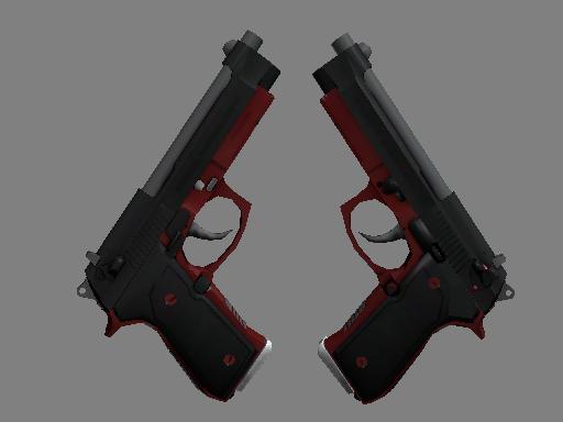 Скин StatTrak™ Dual Berettas | Пантера (Немного поношенное)