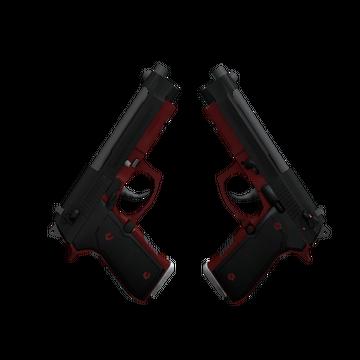 Dual Berettas | Panther (Minimal Wear)