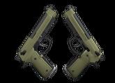 Dual Berettas   Колония, Немного поношенное, 0.72$