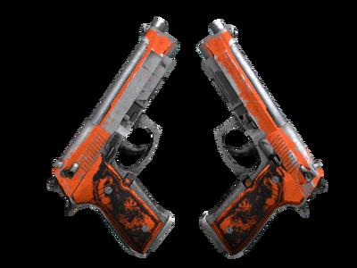 Dual Berettas | Подрыв (Закаленное в боях)